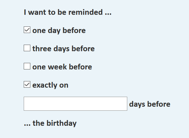 your online reminder never forget a birthday again